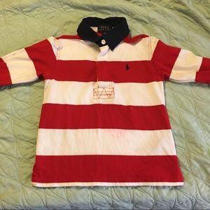 Boys long cotton sleeve polo. Size 3T